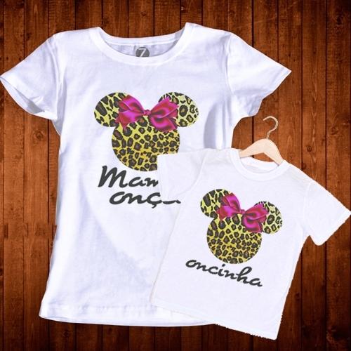Camiseta tal mãe tal filha estampa oncinha