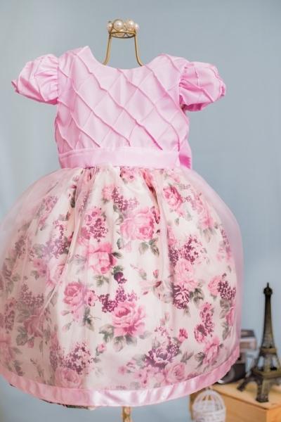 Vestido floral infantil