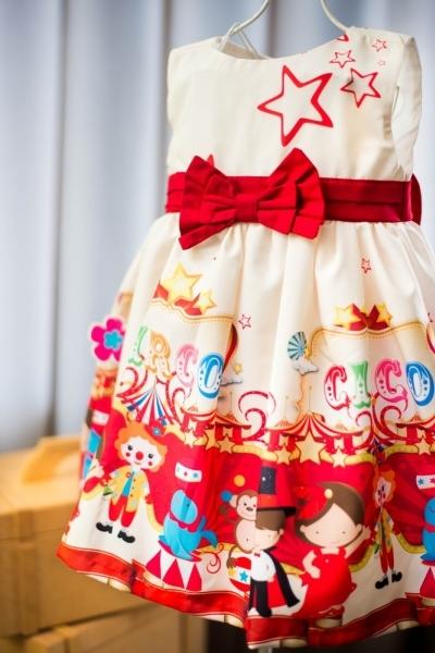vestido infantil circo
