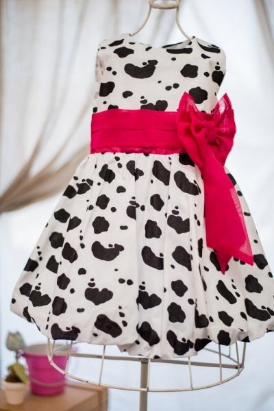 Vestido infantil fazendinha