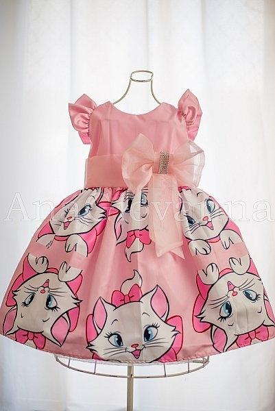 Vestido infantil gata Marie