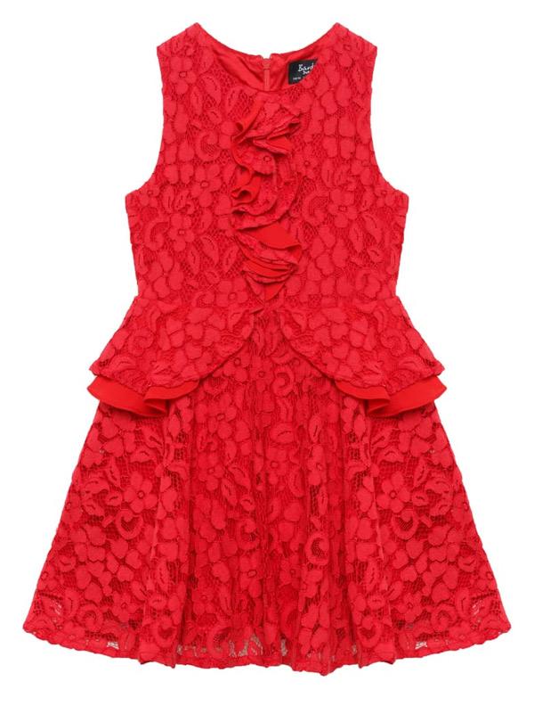 Vestido de formatura infantil vermelho