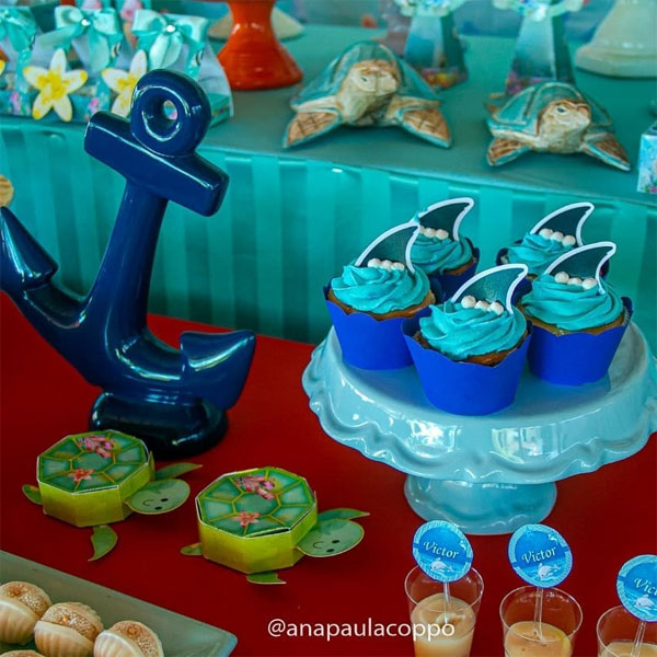 Festa infantil fundo do mar simples
